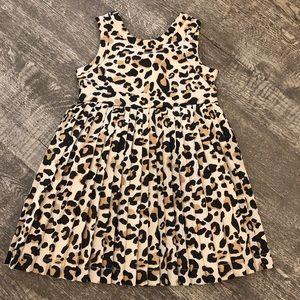 Cheetah pleated dress